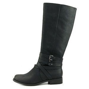 Shoemint Ireland Black Leather Riding Boots, 6.5